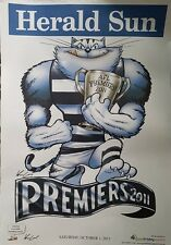 Geelong Cats 2011 AFL Grand Final Premiership Poster