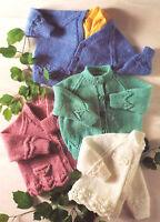 b8d27fe5e Sirdar 4686 Knitting Pattern Baby Jacket Helmet Bootees   Blanket ...