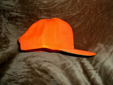 new NEON ORANGE SAFETY hunting hat  high quality polyester adjustable flex strap