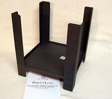 Partylite Dusk To Dawn Luminary Stand #P9379 Original Box Holds 5.5 In Sq Candle