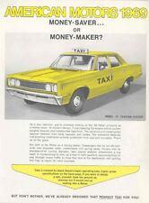 1969 AMC Rebel Six Taxi Cab Brochure mx3384-Z6P85T