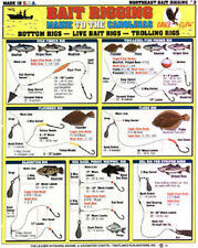SALTWATER New England Bait Rigging Chart - Tightline Tightlines Publications #2