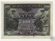 Spain España 100 Pesetas 30-6-1906 Pick 59.a VF/XF Circulated Banknote