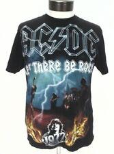 AC/DC Let There Be Rock 1977 Printed in 2008 Men's T-Shirt Black Medium M