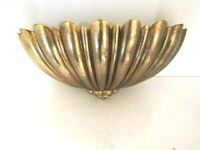 VTG Mid Cent Wall Pocket Goldtone Hollywood Regency Planter Syroco 4246