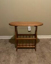 Small Side Table End Narrow with Trestle Wooden Decor Living Room Furniture