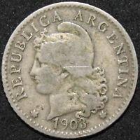 1903   Argentina 5 Centavos   Cupro-Nickel   Coins   KM Coins
