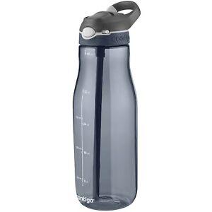 Contigo AUTOSPOUT Ashland 40oz Plastic Water Bottle with Flip Straw Smoke Grey