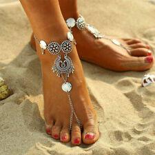 Mode Münze Wasser Fußkette Fußkettchen Fußschmuck Knöchel Fuß Schmuck Armband