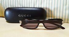Gucci Sonnenbrille Sunglasses GG 1484/S 54/14 + Etui - black dark red logo - New