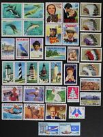US 1990 Commemorative Year Set collection of 36 stamps including Airmail Mint NH