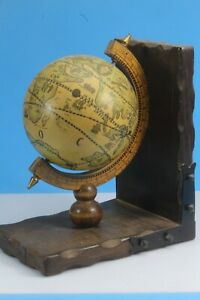 Single Old World Spinning Globe Bookend.