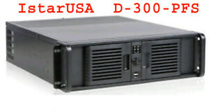 iStarUSA D-300-PFS 3U Compact Rackmount Chassis Front-mounted PS/2 ATX PSU