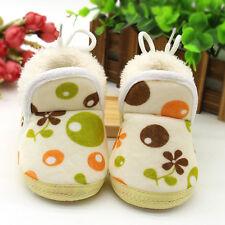 Toddler Newborn Baby Girls Bowknot Soft Sole Boots Prewalker Warm Shoes 12 US