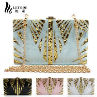 Shiny Acrylic Handbag Womens Purse Shoulder Crossbody Evening Bags Clutch Wallet