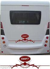 SWIFT LARGE MOTORHOME/CARAVAN REAR VINYL GRAPHICS DECALS CHOICE OF COLOURS #1