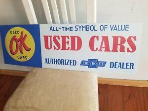 ok used cars sign vintage style car dealership