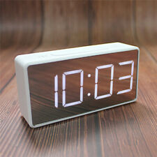 White LED Alarm Clock Large Digital Display Snooze Temperature Battery Powered