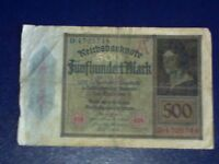 GERMANY - 500 MARK 1922 -   FINE