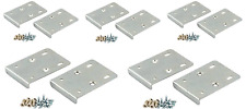 x10 KITCHEN HINGE REPAIR KIT Plate Cupboard Door Cabinet Pair + Screws - Silver