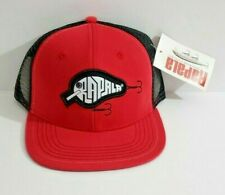 Rapala Fishing Tackle Adjustable Hat Embroidered Red Truckers Cap Brand New