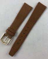 Kreisler Genuine Pigskin 19mm Light Brown Tan Mens Leather Watch Band W115