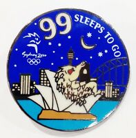 99 SLEEPS TO GO MILLIE MASCOT TO GO SYDNEY OLYMPIC GAMES 2000 PIN COLLECT #891