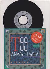 "T99 - ANASTHASIA RAP VERSION REMIX 7"" SINGLE (near mint ) Promo Info"