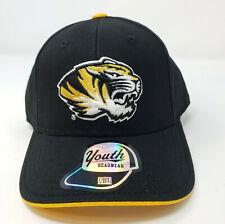Youth Missouri Tigers Hat Cap Adjustable Strap Black NCAA