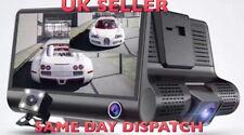 D32 Car Dash Cam 3 LENS HD Video Rec. 4' HD Display Rear recording- UK SUPPLIER