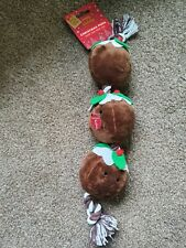 Christmas Puddings Dog Rope Toy BNWT