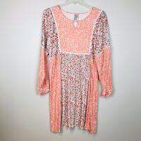 Sahalie Pink Print Dress Women's Size XL NWT Boho
