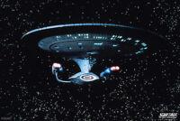 Star Trek The Next Generation USS Enterprise Stars TV Show Poster - 12x18