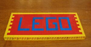 LEGO  CUSTOM  SIGN #2  RED AND YELLOW AND BLUE       MADE FROM LEGO BRICKS