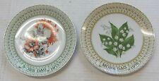 1975 1976 Egemose Blomesterplatten Mother's Day Plate Nr.5 Nr.6 Mors Dag