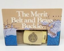 The Merit Belt and Brass Buckle Belt Cigarette Promotional Gift NEW in Box