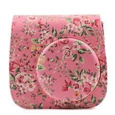 For Fujifilm Fuji Instax Mini 8/9 Camera Floral Leather Bag Shoulder Cover Case