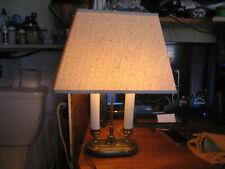 VINTAGE 2-CANDLESTICK  BRASS DESK TABLE LAMP