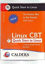 LINUX CBT : QUICK START TO LINUX - OPENLINUX eDESKTOP 2.4 OPERATING SYSTEM - VGC