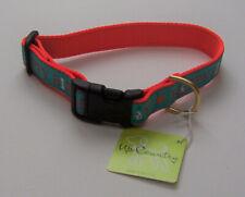 "UP COUNTRY Happy Birthday Dog Collar (L(15-21""), Wide 1"", Light Blue, Orange)"