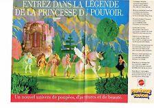 PUBLICITE ADVERTISING 0217  1985  Jouets Mattel (2pag) La Princesse du Pouvoir