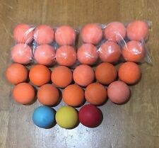 Color Lacrosse ball Lot Of 26. Clean, New/Used Mix. Meets Ncaa Specs.