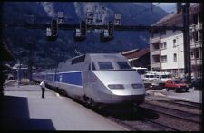 35mm slide+© SNCF TGV 4506 / 38.012 Modane France 1999 original