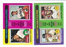 1975 Topps Mini - 1963 MVP's ELSTON HOWARD and SANDY KOUFAX #201 (NM-MT)