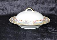 "Antique Porcelain ""Union T"" Covered Butter Or Cheese Czecho-Slovokia"
