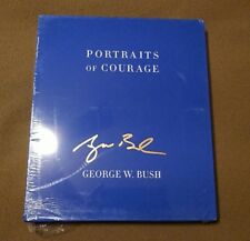 Signed Book George W Bush Portraits of Courage Tribute to America Deluxe Pres.