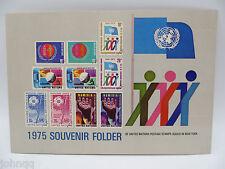 United Nations UN Souvenir Stamp Folder - 1975, New York, MNH Scott 256-266