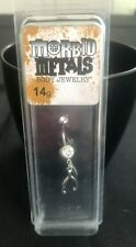 Bling Belly Button Body Jewelry New 14g Morbid Metals Wishbone with