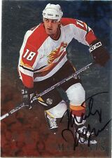 98-99 BE A PLAYER BAP SIGNATURE AUTOGRAPH AUTO #19 MARTY MCINNIS FLAMES *35319