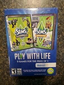 [New Sealed ] Bundle - Sims 3: High-End Loft Stuff- & Town Of Life  PC Game